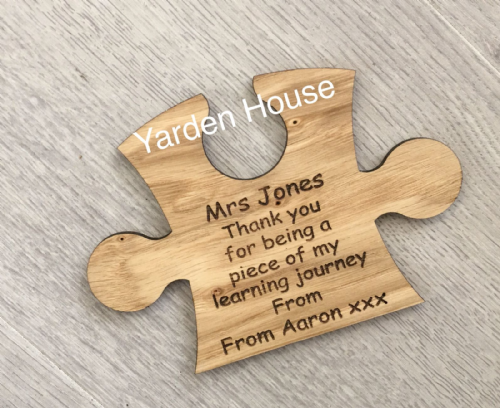 Teacher Jigsaw piece coaster